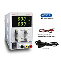 NaviTech DC Power Supply Variable is small-sized and lightweight, features high accuracy, reliability. It is a great tool for scientific research, product development, etc.        NOTICE:         This power supply can not switch betwee...