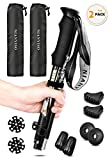 NIANYISO Trekking Poles Collapsible Lightweight for Height 5'3