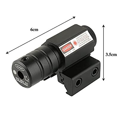 Beileshi Tactical Red Laser Beam Dot Sight Scope for Pistol/handgun Picatinny Rail Mount Hunting with Button Cells