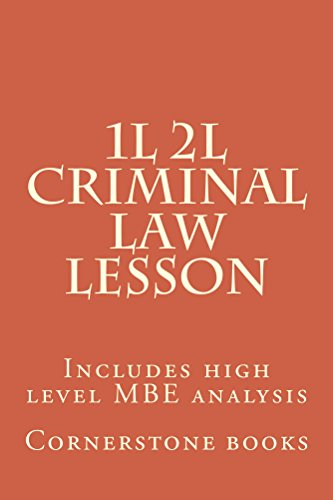 Criminal Law Lesson (Prime Members Can Read This Book Free): Ivy Black letter law books - 6 passing bar exam essays; Big Rests Law Study Method.