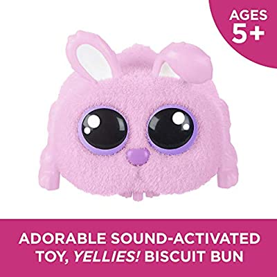 Yellies! Hasbro Toys Biscuit Bun Voice-Activated Bunny Pet Toy for Kids Ages 5 and Up: Toys & Games