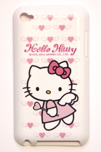 Apple iPod Touch 4th Generation iTouch 4 4G Sanrio Licensed Original HELLO KITTY (cute angel dress) Soft SILICONE TPU Protector Case Cover + Free WirelessGeeks247 Metallic Detachable Touch Screen STYLUS PEN with Anti Dust Plug