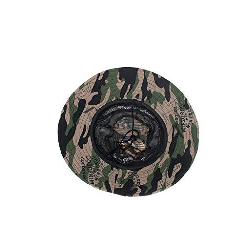 Longra💞 Gorro para Mujer Summer Summer Outdoor Sun Hat Bucket ...
