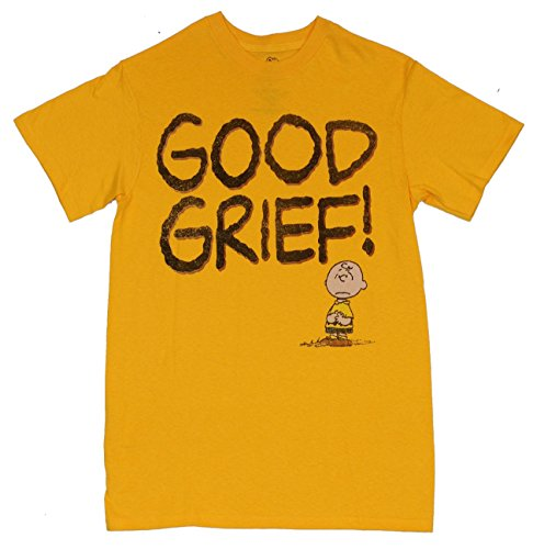 """Peanuts Mens T-Shirt -""""Good Grief!"""" Distressed Little Charlie Brown Image"""