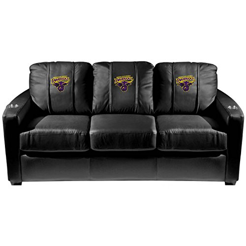 XZipit College Silver Sofa with Minnesota State Mavericks Logo Panel, Black