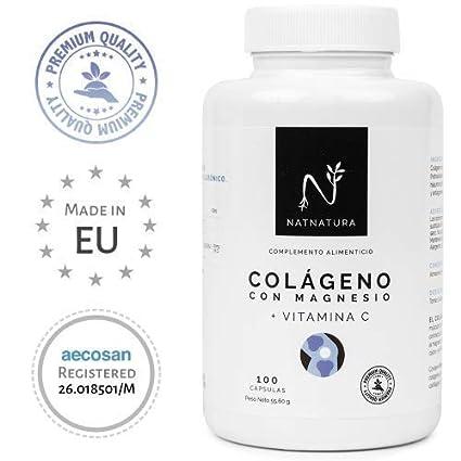 Colágeno con magnesio. Colágeno PEPTAN ® marino hidrolizado+magnesio+Ácido hialurónico+vitamina C. Potente suplemento para mantenimiento de ...