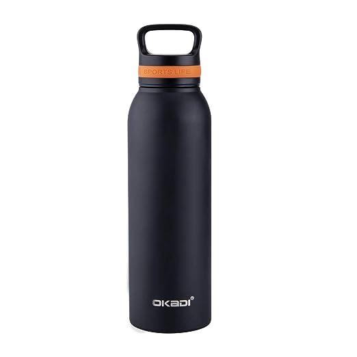 Amazon.com: OKADI Termo de botella de agua de acero ...