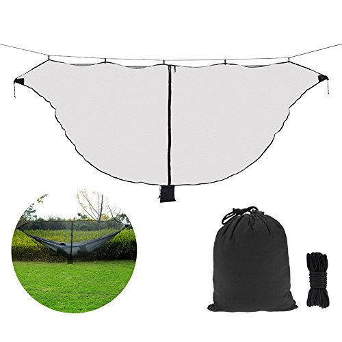 Mosquito Net for Hammock,360 Degree Protection Side Zipper Bug Net for All Hammocks,Breathable and Easy ()