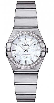 Omega 123.15.24.60.05.001 Constellation Women's Diamond MOP 24MM Watch