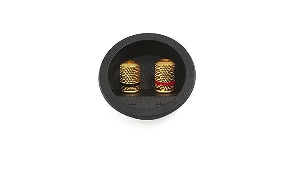 Amazon.com: eDealMax 55mm Dia Ronda de Audio del altavoz Primavera Encuadernación Junta Conector Post Box Dual Terminal: Electronics