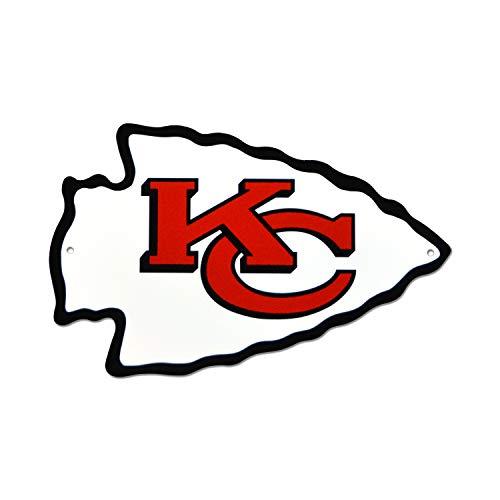 NFL Kansas City Chiefs Metal Logo Sign, 12 inch