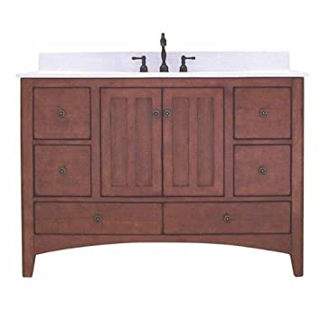 Sunny Wood Ep4821d Expressions 48 Quot Wood Vanity Cabinet Only Cinnamon Nutmeg