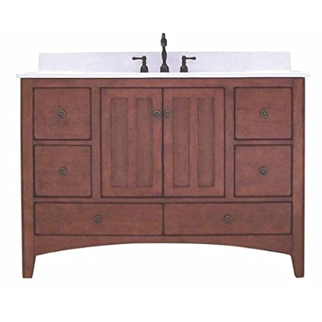 Awesome Sunny Wood EP4821D Expressions 48u0026quot; Wood Vanity Cabinet Only, Cinnamon  / Nutmeg