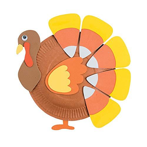 Candy Corn Turkey (Fun Express - Candy Corn Paper Plate Turkey ck for Thanksgiving - Craft Kits - Hanging Decor Craft Kits - Paper Plate Craft Kits - Thanksgiving - 12)