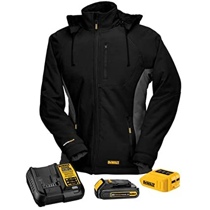 e5dcc9c070013 DEWALT DCHJ066C1-L 20V/12V MAX Women's Heated Jacket Kit, Black, Large - -  Amazon.com