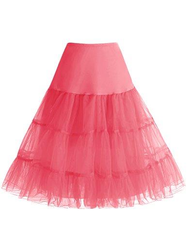 Tailles Femme Choisir Style 4 Jupon 50 anne Bbonlinedress Corail Rockabilly Jupon qW8PwCxSf