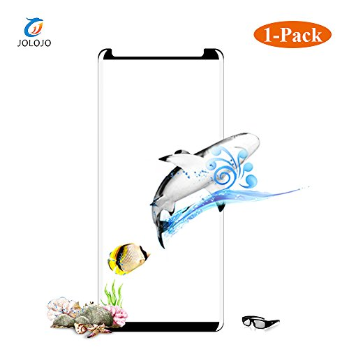 JOLOJO Galaxy Note 8 Screen Protector 98% Coverage [Case Friendly] HD Clear Touch Sensitive [Easy Application] [Scratch Proof] Curved Tempered Glass Screen Protector for Samsung Galaxy Note 8