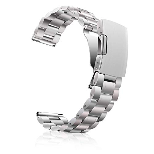 Metal Watch Band 18mm 20mm 22mm, Vetoo Solid 304L Stainless Steel Replacement Watch Strap, Quick Release Pins Wristband for Men Women