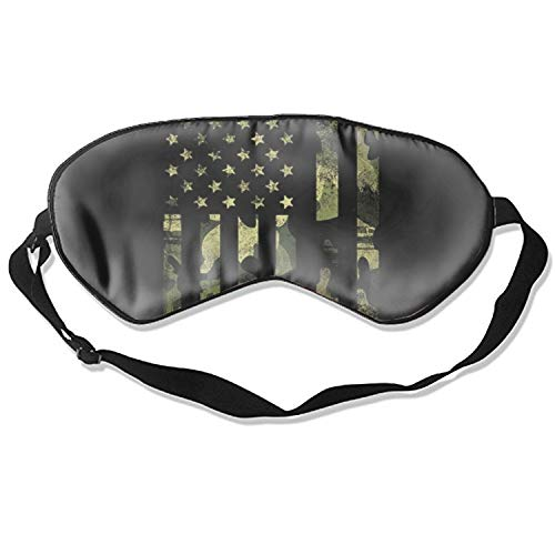 American Camo Flag Sleep Eye Mask for Sleeping Contoured Eyemask Silk Best Night Blinder Eyeshade for Men Women Kids