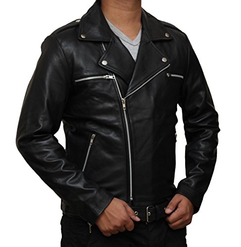 Heavy Metal Halloween Costume Ideas (The Walking Dead Negan Leather Jacket Halloween Costume (M, Black))