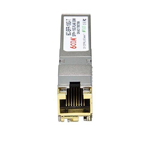 6COM Ubiquiti Compatible 10GBase-T SFP+ 10 Gigabit RJ45 Copper Transceiver 30m by 6COM (Image #2)
