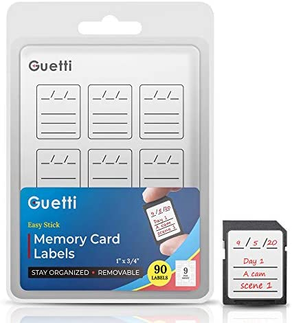 Guetti Labels SD Memory Card Label Stickers, 90 Count