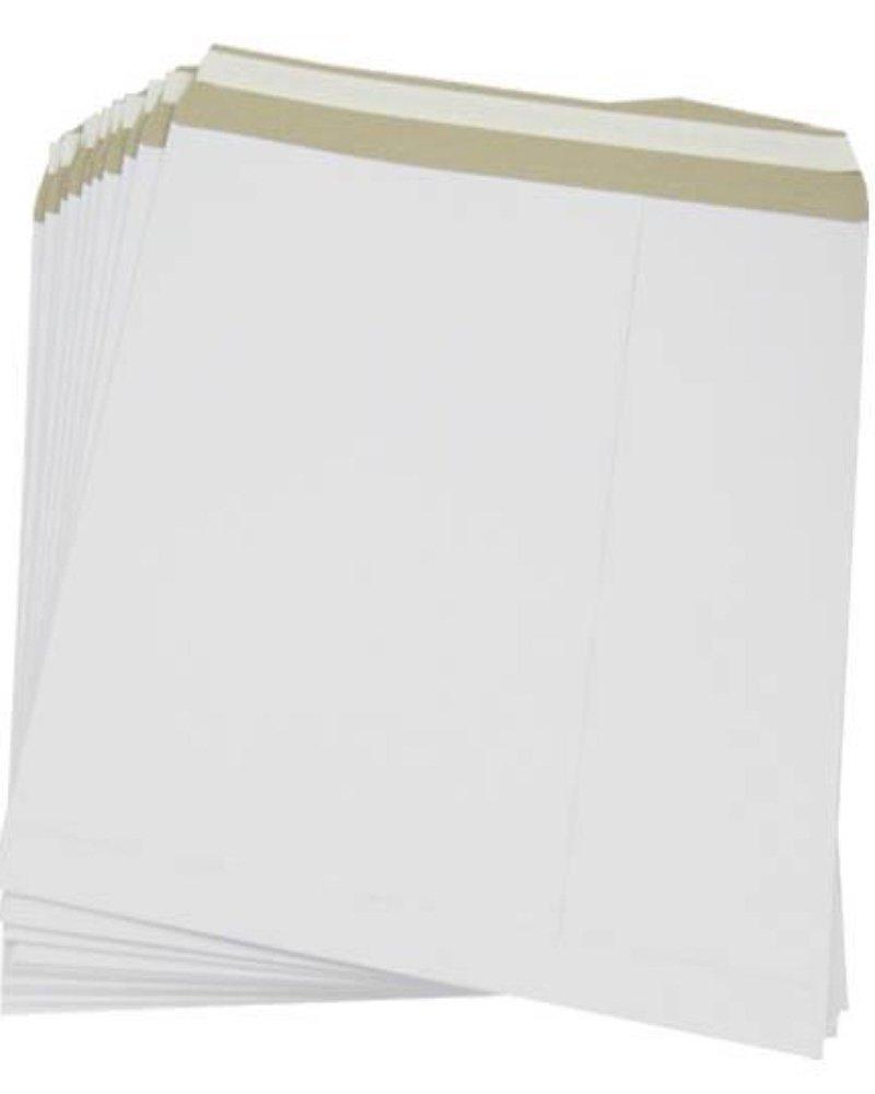 50 buste di cartone per spedizioni postali di dischi in vinile o LP da 30,5 cm, resistenti, con chiusura autoadesiva, colore: bianco UKPS