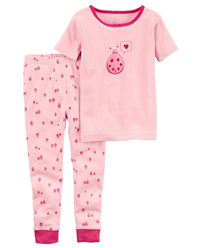 - Carter's Baby Girls' Little Planet Organics 2-Piece Cotton Pajamas, Pink Ladybug, 24 Months