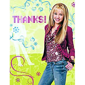 Hannah Montana Thank You Cards 8ct by Factory Card and Party Outlet (Image #1)