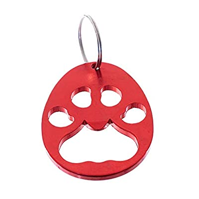 West Coast Paracord Paw Print Metal Keychain and Bottle Opener with Split Ring (Red, 1 Pack): Automotive