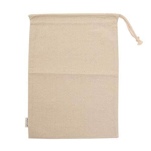 (Augbunny Cotton/Linen Blend 11- by 15-inch Muslin Produce Bags with Drawstring, 6-Pack)