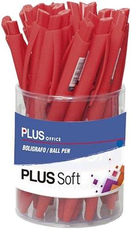 Plus Office 080904 - Pack de 25 bolígrafos, color rojo: Amazon.es ...
