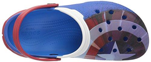 crocs Unisex Duet Max Captain America Clog Mule, Multi, 4 US Uomo / 6 US Donna
