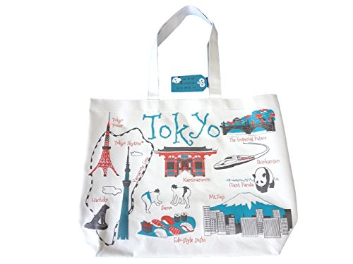 (Japan Souvenirs Tote Bag - Unique Picture Sight seeing - impoted (Tokyo))