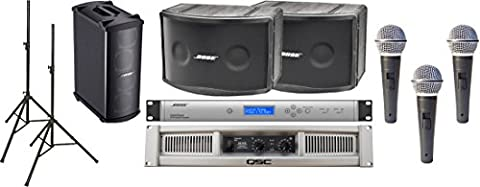 Bose Panaray 802 Series IV Loudspeaker Bundle with Bose MB4 Modular Bass Loudspeaker, QSC GX5 Power Amplifier and Accessories - Portable Sound System (16 (Panaray System Digital Controller)