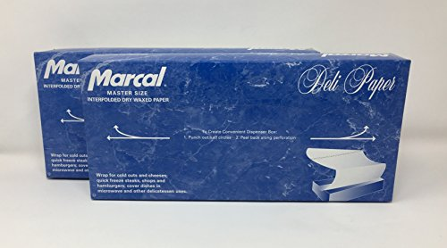 Dry Paper Sheets (Marcal Deli Wrap Interfolded Wax Paper. Dry Waxed Food Liner Master Size 12 Inch by 10.75 Inch. 1000 Total Sheets (2 x 500 Packs))