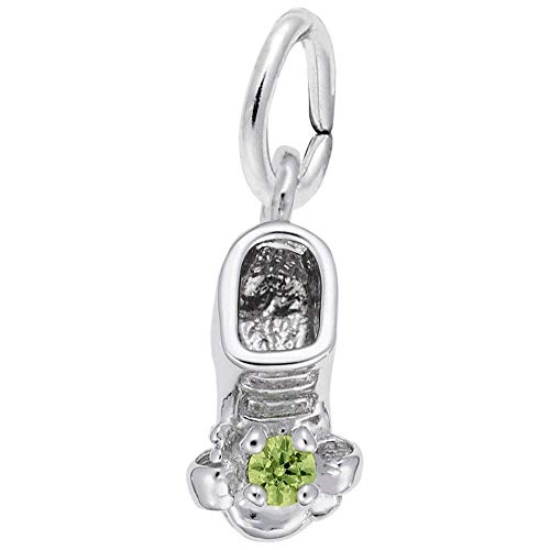 (Rembrandt Charms, August Baby Bootie.925 Sterling Silver )