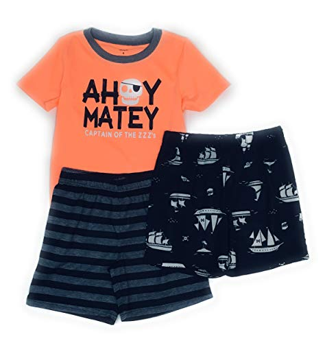- Carter's Boys 3-Piece Polyester Jersey Pajama Sets (Orange/Matey, 7)