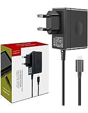 YCCTEAM Netzteil für Nintendo Switch, 15V 2,6A Schnelles Laden Ladegerät für Switch / Switch Lite, 5FT Typ-C Kabel Tragbar Ladegerät für Switch / Switch Dock / Pro Controller - Unterstützt TV Modus