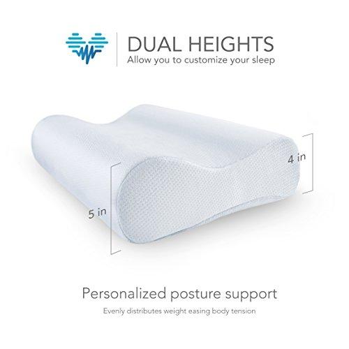 pharmedoc contour memory foam pillow orthopedic pillow
