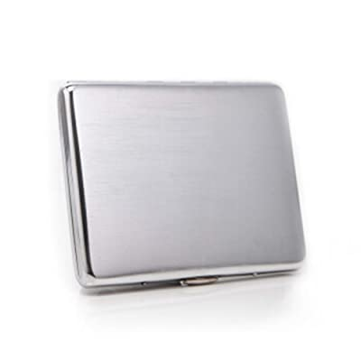 HAOYUSHANGMAO Cigarette Case, 9-10 Sticks, Thin and Creative Personalized Cigarette Case, Chrome-Plated Brushed Cigarette Case, Best Gift - The Best Gift: Sports & Outdoors