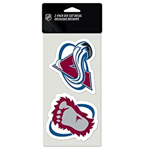 "NHL Colorado Avalanche Perfect Cut Decal (Set of 2), 4"" x 4"""