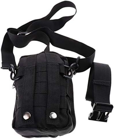 ウエストポーチ ショルダーバッグ 収納袋 ミニ 持ち運び 調節可能 ブラック