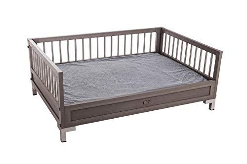 New Age Pet ecoFLEX Manhattan Raised Dog Bed w/Removable Cushion