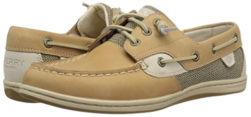 Sperry Top-Sider Women's Songfish Boat Shoe, Linen/Oat, 7.5 Wide US by Sperry Top-Sider (Image #6)