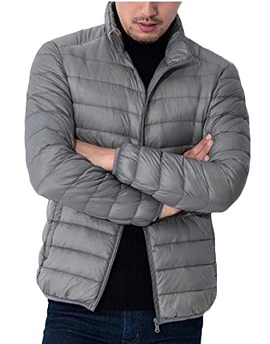 Down Down Jacket Packable Coat Men's Coat Quilted Ultra Parka Puffer Lightweight Outdoor Gery TTYLLMAO Fvtfqw