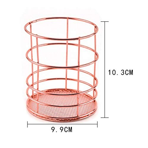 (Storage Baskets - Specification Wrought Iron Storage Basket Box Desktop Debris Rack - Field Goal Gilt Gilded Aureate Colored Basketful Metallic Basketball Hoop Amber - 1PCs)