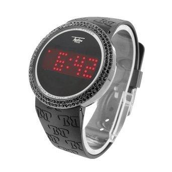 Black Lab Diamonds Techno Pave - Reloj con Pantalla táctil, Correa de Silicona Negra, Resistente al Agua: Amazon.es: Relojes