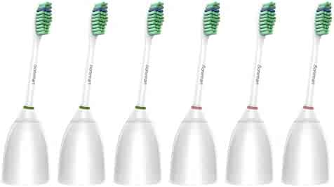 Sonimart Standard Replacement Toothbrush Heads for Philips Sonicare e-Series HX7022, 6 pack, fits Sonicare Advance, CleanCare, Elite, Essence and Xtreme Philips Brush Handles