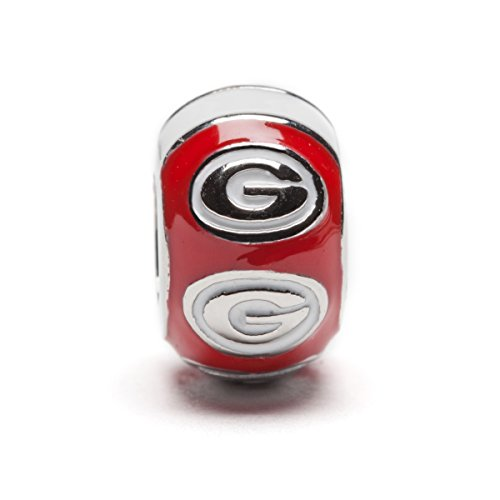 georgia bulldog charm bead - 6